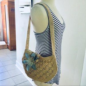 Vintage Woven Handbag Purse